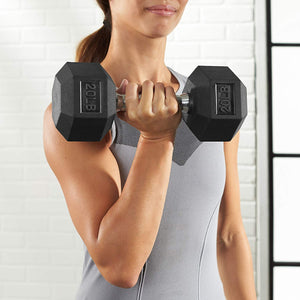 Basics Rubber Encased Hex Dumbbell