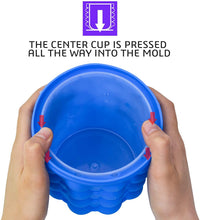 Load image into Gallery viewer, ALLADINBOX Ice Cube Mold Ice Trays, Large Silicone Ice Bucket, (2 in 1) Ice...