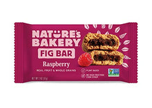 Load image into Gallery viewer, Nature's Bakery Whole Wheat Fig Bars, Raspberry, 1- 12 Count Box of 2 oz Twin Packs (12 Packs), Vegan Snacks, Non-GMO 1501080090 12 Count (Pack of 1)