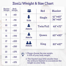 Load image into Gallery viewer, ZonLi Weighted Blanket 15 lbs(60''x80'', Queen Size, Cambridge Blue), Cooled Weighted Blanket for Adults, 100% Cotton Material with Glass Beads