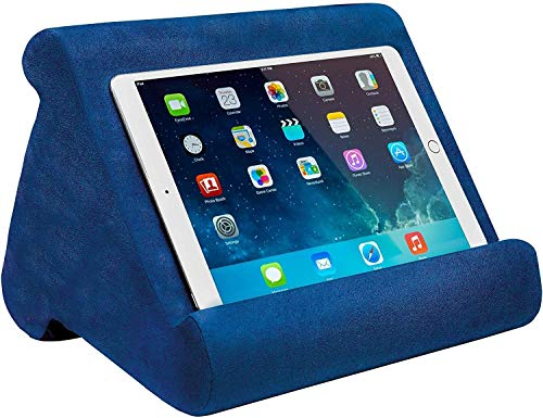 Ontel Pillow Pad Multi-Angle Soft Tablet Stand (Retail Packaging), Blue Blue, Retail Pack