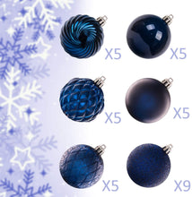 Load image into Gallery viewer, KI Store Christmas Balls Blue Shatterproof Christmas Tree Ball Ornaments Decorations for Xmas Trees Wedding Party Home Decor 2.36-Inch Hooks Included