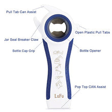 Load image into Gallery viewer, Multi-Function Professional 6 in 1 LUFU Bottle Opener. Being Effort-Saving, Safe and efficient in Bottle Opening, Comfortable Beautiful Non-Slip Handle with Rubber Coating. (Blue)