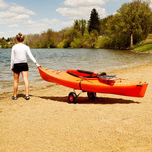 Load image into Gallery viewer, ABN Universal Kayak Carrier – Trolley for Carrying Kayaks, Canoes, Paddleboards, Float Mats, and Jon Boats