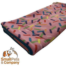 Load image into Gallery viewer, Small Pets and Company Guinea Pig Fleece Cage Liner for Midwest Habitat | Guinea Pig Bedding | Guinea Pig Fleece | Sprinkles Gray Woodland Animals Fleece