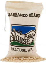 Load image into Gallery viewer, Garbanzo Beans aka Chickpeas or Ceci Beans | Non-GMO Project Verified | 100% Non-Irradiated | Certified Kosher Parve | USA Grown | Field Traced (3 LB Garbanzo Beans | Cotton Bag)