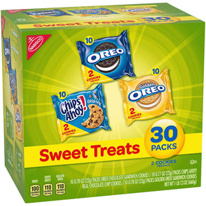 Nabisco Cookies Sweet Treats Variety Pack Cookies - with Oreo, Chips Ahoy, & Golden Oreo - 120 Snack Pack