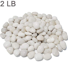 "Load image into Gallery viewer, M--jump 2 Pounds 1"" - 2"" Gravel Size Natural Decorative Stones Polished White Pebbles Use in Glassware, Like Vases, Aquariums and Terrariums to Enhance The Appearance"