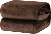 Load image into Gallery viewer, Bedsure Fleece Blanket Throw Size Brown Lightweight Super Soft Cozy Luxury Bed Blanket Microfiber