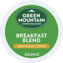 Load image into Gallery viewer, Green Mountain Coffee Roasters Breakfast Blend Flavor Coffee M1, Keurig Single-Serve K-Cup Pods, Light Roast, 144 Count