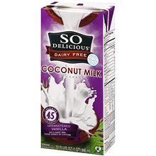 Load image into Gallery viewer, So Delicious Dairy Free So Delicious Dairy-Free Organic Coconutmilk Beverage, Unsweetened Vanilla, 32 Ounce (Pack of 12) Plant-Based Vegan Dairy Alternative, Great in Smoothies Protein Shakes or Cereal 32 Fl Oz (Pack of 12)