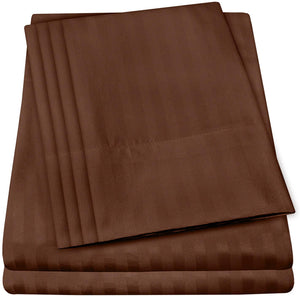 Cal King Size Bed Sheets - 6 Piece 1500 Thread Count Fine Brushed Microfiber Deep Pocket California King Sheet Set Bedding - 2 Extra Pillow Cases, Great Value, California King, Dobby Coffee