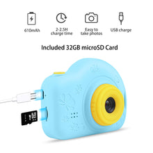 Load image into Gallery viewer, Kids Camera, AIMASON Digital Video Camera Gift for Age 3 4 5 6 7 8 9 10 Year Old Boys, Mini Rechargeable and Shockproof Camera Creative DIY Camcorder for Little Boy with 32GB SD Card (Blue)