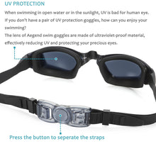 Load image into Gallery viewer, aegend Swim Goggles, Swimming Goggles No Leaking Anti Fog UV Protection Triathlon Swim Goggles with Free Protection Case for Adult Men Women Youth Kids Child, Multi-Choice