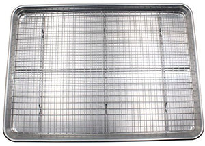Checkered Chef Cooling Rack Baking Rack. Stainless Steel Oven and Dishwasher Safe. Fits Half Sheet Cookie Pan unknown one size Silver