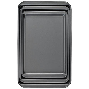 Good Cook Set Of 3 Non-Stick Cookie Sheet 04322 Multicolor