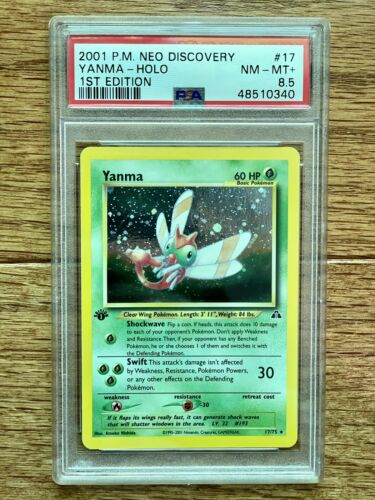 2001 Pokemon 1st Edition Neo Discovery Yamna Holo Rare PSA 8.5 Card # 17 Pop 9!
