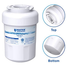 Load image into Gallery viewer, Waterspecialist NSF 53&42 Certified MWF Refrigerator Water Filter, Replacement for GE SmartWater MWFP , MWFA, GWF, HDX FMG-1, WFC1201, GSE25GSHECSS, PC75009, RWF1060, 197D6321P006 (Pack of 3) WS613B-A-3 3 Pack White