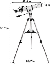 Load image into Gallery viewer, Gskyer Telescope, 600x90mm AZ Astronomical Refractor Telescope, German Technology Scope