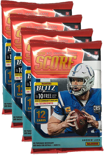 Panini 2019-2020 Score NFL Football Trading Cards Retail Factory Sealed 4 Packs