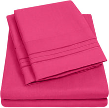 Load image into Gallery viewer, 1500 Supreme Collection Extra Soft RV Queen Sheet Set, Fuscia- Luxury Bed Sheet Set with Deep Pocket Wrinkle Free Hypoallergenic Bed Sheets, King Size, Peach