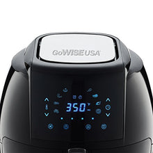 Load image into Gallery viewer, GoWISE USA GW22921-S 8-in-1 Digital Air Fryer with Recipe Book, 5-Qt, Black