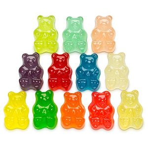 Albanese World's Best 12 Flavor Gummi Bears, 5 Pound Bag 50200 Multicolored