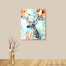 Load image into Gallery viewer, YXQSED [Wooden Framed DIY Oil Painting, Paint by Number Kits Home Decor Wall Pic Value Gift-Painted Deer 16X20 Inch