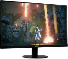 "Load image into Gallery viewer, Acer SB230 Bbix 23"" Full HD (1920 x 1080) IPS Ultra-Thin Zero Frame Monitor with AMD with Basics Single Computer Monitor Stand – Height Adjustable Desk Arm Mount, Steel Bundle"