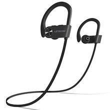 Load image into Gallery viewer, LETSCOM Bluetooth Headphones IPX7 Waterproof, Wireless Sport Earphones, Hifi Bass Stereo Sweatproof Earbuds W/Mic, Noise Cancelling Headset for Workout, Running, Gym, 8 Hours Play time, BlackGray U8I 3.94 x 3.94 x 1.85 in