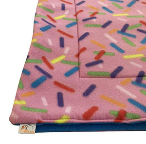 Small Pets and Company Guinea Pig Fleece Cage Liner for Midwest Habitat | Guinea Pig Bedding | Guinea Pig Fleece | Sprinkles Gray Woodland Animals Fleece