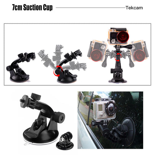 Tekcam for xiaomi yi Accessories for Xiaomi yi 4k/yi lite/yi discovery/mijia 4k Gopro hero 7 hero 5/4 session Eken h9r H9 H6S