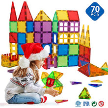 Load image into Gallery viewer, Magblock Magnetic Blocks - Magnetic Toys for Toddlers Kids Magnetic Building Blocks Preschool Magnet Set Magnetic Stem Toys 70 Pieces 70pcs Multicolor