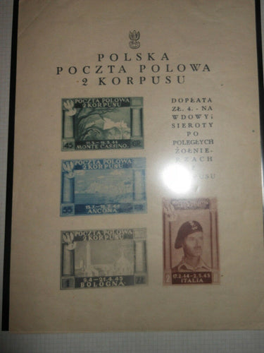 Free Polish forces in  Italy    4  s/sheets