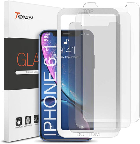 Trianium (3 Packs) Screen Protector Designed for Apple iPhone 11 and iPhone XR (6.1