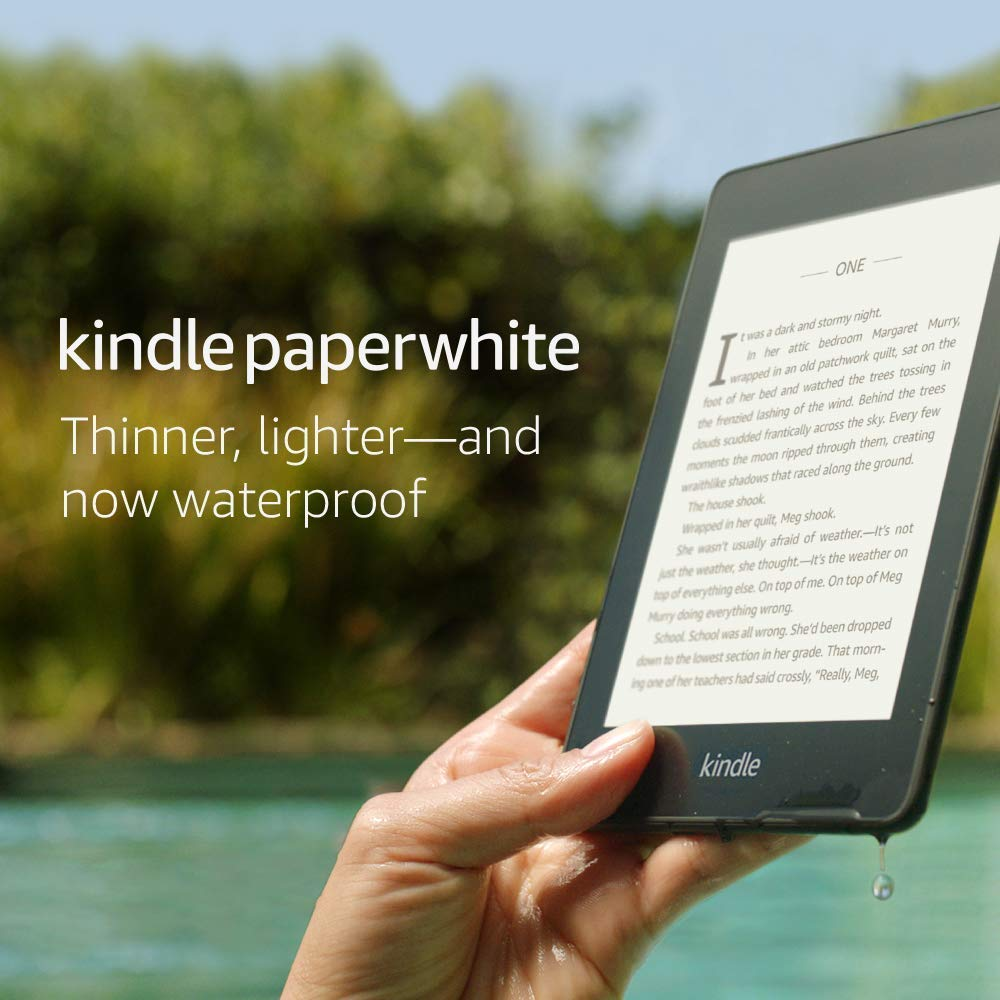 Kindle Paperwhite – Now Waterproof with more than 2x the Storage – Includes Special Offers