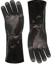 "Load image into Gallery viewer, Artisan Griller Redefining Outdoor Cooking BBQ Heat Resistant Insulated Smoker, Grill, Fryer, Oven, Cooking Gloves. Barbecue/Frying/Grilling – Waterproof, Oil Resistant -1 pair (Size 10/XL - Fits Most 8119 Size 10/XL -13"" Black"