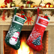 Load image into Gallery viewer, EasyAcc Christmas Stockings Personalized Large Size Classic Fireplace Stockings Adorable Felt Materials Stocks for Child Treats Toys Family Holiday Xmas Cheer Party New Year Decor Gifts - Xmas Tree