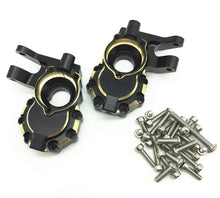 Load image into Gallery viewer, Treal Brass Inner Front Portal Drive Housing for Traxxas TRX-4/TRX-6 Crawler RC Car (2) pcs -Blackening