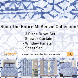1500 Supreme Collection Extra Soft McKenzie Artful Balanced Light Blue Intricate Pattern Sheet Set, Full - Luxury Bed Sheets Set with Deep Pocket Wrinkle Free Hypoallergenic Bedding, Full