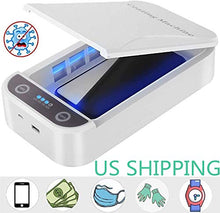Load image into Gallery viewer, SHINEVI UV Cell Phone Sanitizer Portable UV Lights Smart Phone Sanitizer Sterilizer Cleaner Aromatherapy Function Disinfector for All iPhone Android Cellphone Toothbrush
