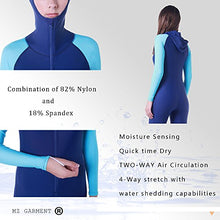 Load image into Gallery viewer, MZ Garment Wetsuit Full Suits for Women or Mens Modest Full Body Diving Suit & Breathable Sports Skins for Running Snorkeling Swimming (016-girl-blue, S) Small