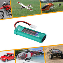 Load image into Gallery viewer, Powerextra 2 Pack 7.2V 3600mAh High Capacity 6-Cell NiMH Battery Packs with Standard Tamiya Connectors Compatiable RC Cars, RC Truck, RC Airplane, RC Helicopter, RC Boat