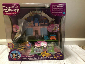 NEW & RARE Disney Showtime Celebration Playset & Theme Park Playset Complete Set