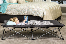 Load image into Gallery viewer, Regalo My Cot Extra Long Portable Bed, Includes Fitted Sheet, Gray