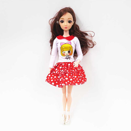 1Set Dolls Clothes Accessories Suitable 30cm Bjd Doll Fashion Daily Casual Outfits Dress Pants Jeans T-shirt Toys For Girls