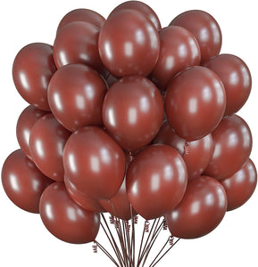 Prextex 75 Brown Party Balloons 12 Inch Coffee Brown Balloons with Matching...