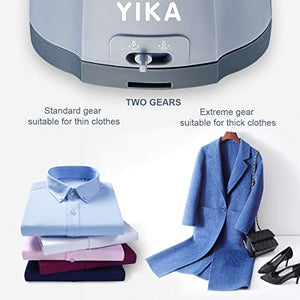 YIKA Steamer for Clothes Steamer,Vertical and Horizontal 2 in 1 Handheld Garment Steamer Clothing,1200W Portable Steam Iron,300ml Big Capacity Fabric Mini Travel Steamer(Upgraded Version) (Blue Grey) 1687BG