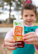 Load image into Gallery viewer, Good Karma Plant-Powered Flaxmilk, Chocolate, 6.75 oz. Lunchbox Carton (Pack of 18) Dairy-Free, Plant Based Milk Alternative 18 Pack