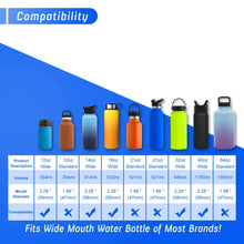 Load image into Gallery viewer, The Mass Wide Mouth Straw Lid Compatibility Most Sports Water Bottle